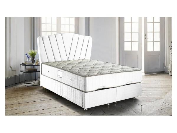 Line Beyaz Baza Başlık Yatak Seti